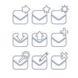 _biznesowy czek ikona ilustracja poczta więcej mój zadawalać portfolio ustawiać ikony liniowe Obrazy Royalty Free