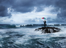 Biznesowy depresja problemu outdoors pojęcie Obrazy Stock
