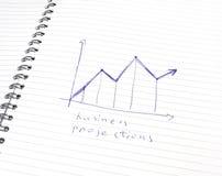 biznesowy diagram obraz royalty free