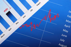 biznesowy diagram Fotografia Stock