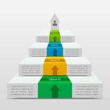 Biznesowy diagram template Zdjęcie Royalty Free
