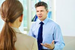 Biznesowy dialog Fotografia Stock