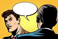 Biznesowy dialog, negocjacje royalty ilustracja