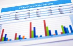 Biznesowy dokument finansowi dane Zdjęcie Royalty Free