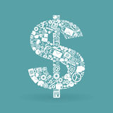 Biznesowy dolar Fotografia Royalty Free