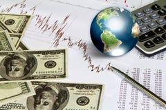 biznesowy dolara ziemi wykres Zdjęcie Stock