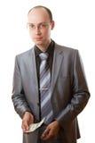 biznesowy dolarowy szkieł utrzymania mężczyzna krawata target1776_0_ Zdjęcia Stock