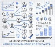 Biznesowy doodle set Zdjęcie Royalty Free