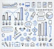 Biznesowy doodle set Zdjęcie Stock