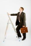 biznesowy drabinowy mężczyzna Zdjęcia Stock