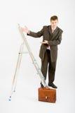 biznesowy drabinowy mężczyzna Zdjęcie Royalty Free