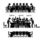 biznesowy dyskusi ikony spotkanie ilustracja wektor