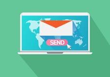 Biznesowy emaila marketing royalty ilustracja