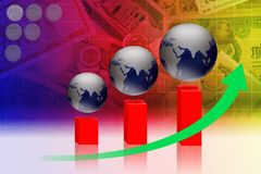 Biznesowy finansowy ekonomiczny i Zdjęcie Stock