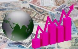 Biznesowy finansowy i ekonomiczny Obraz Royalty Free
