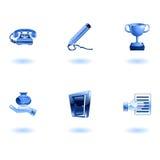 biznesowy glansowany ikony biura set ilustracji