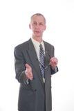 biznesowy glasess uścisk dłoni mężczyzna Zdjęcia Stock