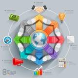 Biznesowy globalny strzałkowaty diagram Zdjęcia Stock