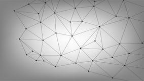Biznesowy Globalny związek, Abstrakcjonistycznej sieci Złączona kropka, linie, odizolowywać na tle, technologii cyfrowej pojęcie  Fotografia Stock