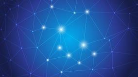 Biznesowy Globalny związek, Abstrakcjonistycznej sieci Złączona kropka, linie, odizolowywać na tle, technologii cyfrowej pojęcie  Obraz Stock