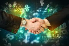 Biznesowy gospodarka uścisk dłoni fotografia stock