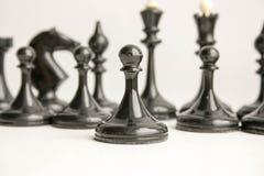 Biznesowy gry zespołowej pojęcie szachy fotografia stock