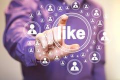 Biznesowy guzik jak online ikony sieć Obrazy Royalty Free