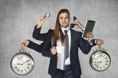 Biznesowy hybryd, kombinacja biznesmen i bizneswoman zdjęcia royalty free
