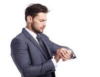 Biznesowy i biurowy pojęcie - biznesmen w kostiumu Obrazy Royalty Free