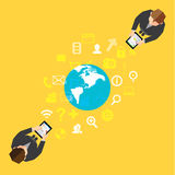 Biznesowy i socjalny NetworkVector projekt Zdjęcie Stock