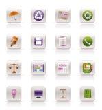 biznesowy ikon internetów biuro Obrazy Royalty Free