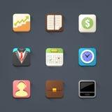 Biznesowy ikona set Zdjęcie Stock