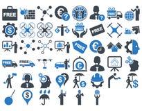 Biznesowy ikona set Fotografia Stock