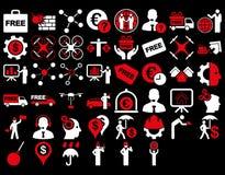 Biznesowy ikona set Zdjęcie Royalty Free