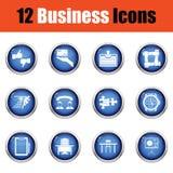 Biznesowy ikona set Obrazy Stock