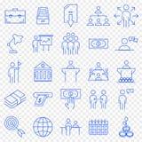 Biznesowy ikona set 25 ikon Wektorowa paczka royalty ilustracja