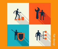 Biznesowy ikona set Oprogramowania i sieci rozwój, marketing Fotografia Stock