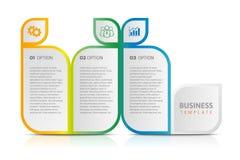 Biznesowy infographic, obieg, badanie, linia czasu, etykietka, strategia Obraz Stock