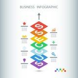 Biznesowy Infographic sukces Isometric projekta infographic pojęcie Fotografia Stock