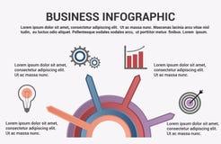 Biznesowy infographic szablon royalty ilustracja