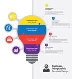 Biznesowy infographic szablon Fotografia Royalty Free
