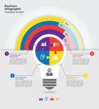 Biznesowy infographic szablon Zdjęcia Stock