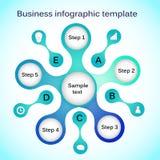 Biznesowy infographic szablon Obrazy Royalty Free