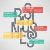 Biznesowy infographic szablon stosowny dla Zdjęcie Royalty Free