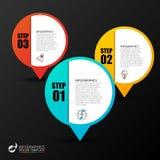 Biznesowy infographic szablon z 3 krokami wektor Fotografia Stock