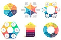 Biznesowy Infographics Diagramy z 6 krokami Fotografia Royalty Free