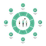 Biznesowy Infographics ikony szablon Zdjęcie Stock