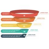 Biznesowy infographics lej obraz stock