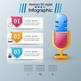Biznesowy Infographics Mikrofon ikona Fotografia Royalty Free