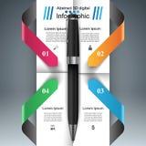 Biznesowy Infographics Pióro ikona Fotografia Stock